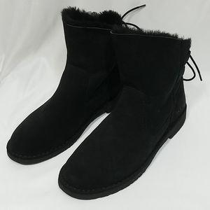 UGG Naiyah Lace Back Genuine Shearling Boots 11